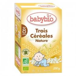 TRES CEREALES 250GR BABYBIO