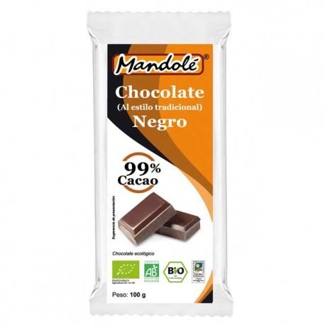 CHOCOLATE 99% MANDOLE 100GR