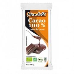 CHOCOLATE NEGRO 100% MANDOLE 100GR