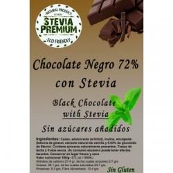 Chocolate negro con stevia 72% 100gr Stevia premiu