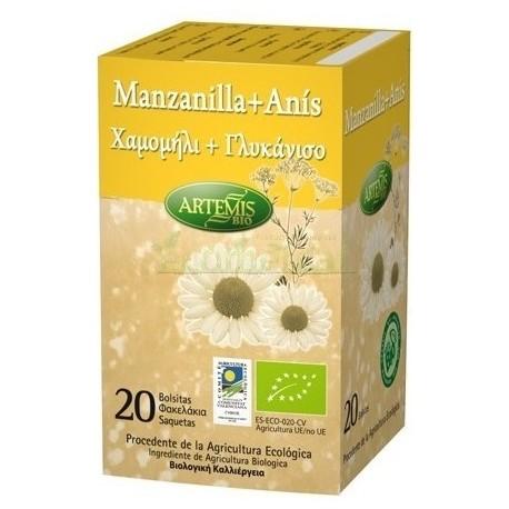 INFUSIÓN MANZANILLA-ANÍS 20 BOLSISTAS. ARTEMIS