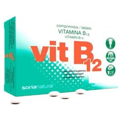 VITAMINA B12 SORIA NATURAL 48 COMP 200 MG
