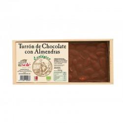 TURRON DE CHOCOLATE CON ALMENDRAS 200 G SOLE