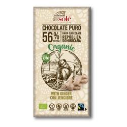 CHOCOLATE NEGR 56% JENGIBRE 100GR CHOCOLATES SOLE