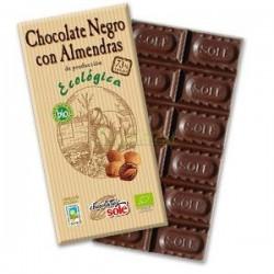 CHOCOLATE NEGRO 73% CON ALMENDRAS 150GR. SOLE