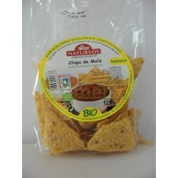 CHIPS DE MAIZ NATURAL 125GR. NATURSOY