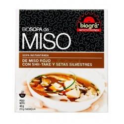 SOPA DE MISO ROJO CON SHII-TAKE Y SETAS SILVESTRES