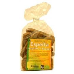 GALLETAS ESPELTA JENGIBRE.+NUECES. 175GR. BIOSPIRI
