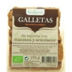GALLETAS ESPELTA MANZANA + ARANDANOS. 175GR. BIOSP