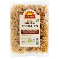 ESPIRALES PASTA INTEGRAL 250GR BIOGRÁ
