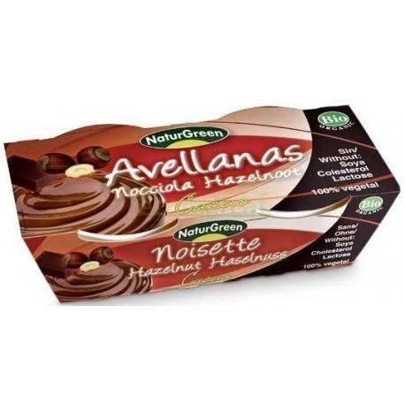 POSTRE DE AVELLANAS Y CHOCOLATE 2X125GR NATURGREEN