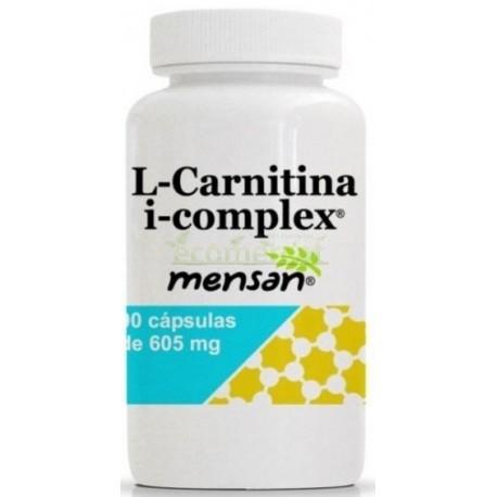 L-CARNITINA I-COMPLEX 90 CÁPSULAS DE 605MG. MENSÁN