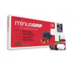 MINUSGRIP. 10 VIALES DE 10 ML. SORIA NATURAL