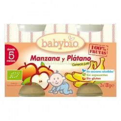 POTITO MANZANA Y PLATANO 130GR X 2 BABYBIO