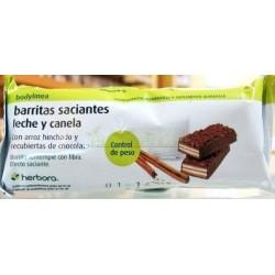 BARRITAS SACIANTES LECHE Y CANELA 35GR. HERBORA