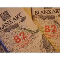 CHOCO NEGRO CONGO 82%. ECOLÓGICO 125GR. BLANXART