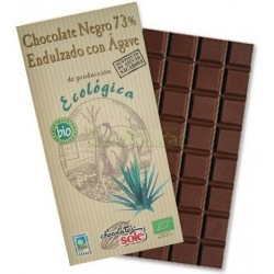 CHOCOLATE NEGRO 73%  AGAVE 100 G SOLE