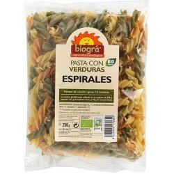PASTA CON VERDURAS ESPIRALES 250GR. BIOGRA