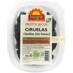 CIRUELAS CLAUDIAS SIN HUESO 230GR. BIOGRÁ